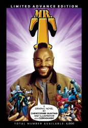 Mr. T graphic novel cover art