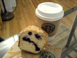 Unhappy Starbucks Muffin