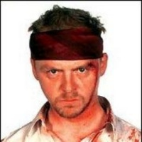 Simon Pegg, displeased