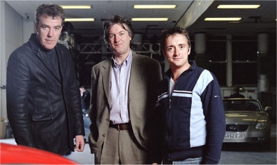 Jeremy Clarkson, James May and Richard Hammond, the presenters of BBC