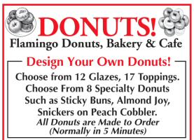 Donuts Ad at Flamingo Cafe