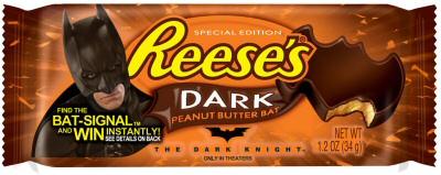 Reese's Dark Peanut Butter Bat from Dark Knight