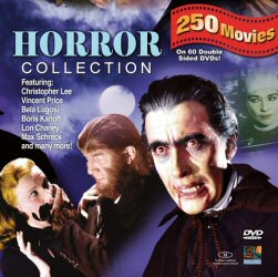 Horror Collection 250 Movie Pack from Mill Creek Entertainment DVD Cover Art