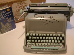 Douglas Adams' Typewriter, signed