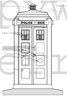 TARDIS Blueprint by Sherrod Drawings