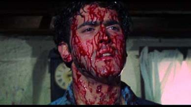 Bruce Campbell as Ash, the hero, from Evil Dead