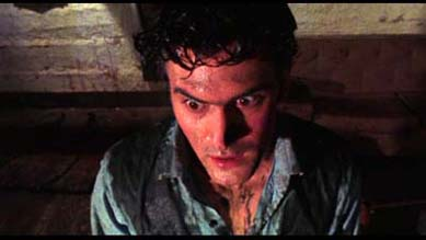 Bruce Campbell as Ash from Evil Dead