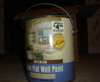 Interior Latex Flat Wall Paint from a FedEx package