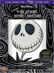 The Nightmare Before Christmas DVD cover art