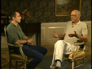 Daniel Day-Lewis and his father-in-law, Arthur Miller, from The Crucible DVD