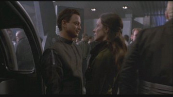 Gary Sinise and Madeleine Stowe from Impostor