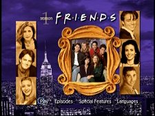 DVD menu from Friends: The Complete First Season