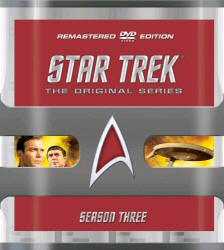 Star Trek: The Original Series Remastered Season 3 DVD cover art