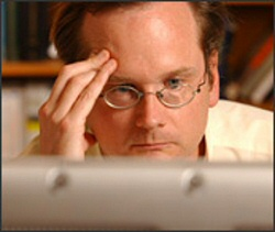 Lawrence Lessig, trying to project his telepathic will onto the government