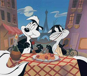 Pepe Le Pew and friend