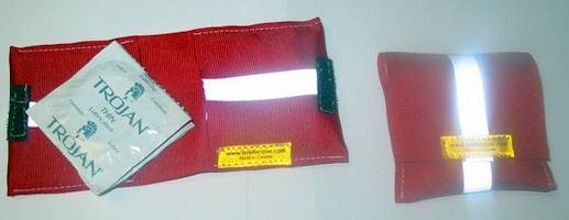 reflective condom wallet