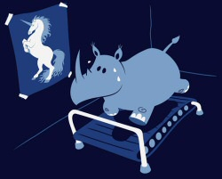 Runnin Rhino from Threadless