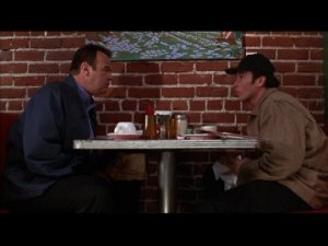 Dan Aykroyd and John Cusack from Grosse Pointe Blank