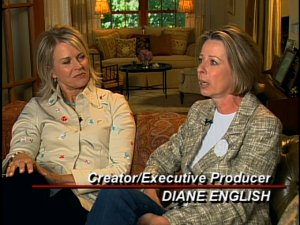 Candice Bergen and Diane English from Murphy Brown: The Complete First Season