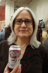 Niki with Diet Dr. Pepper