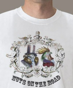 Nuts on the Road: t-shirt