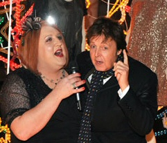 Peter Kay as Geraldine McQueen with Paul McCartney