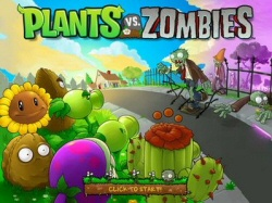 Plants vs. Zombies opening screen