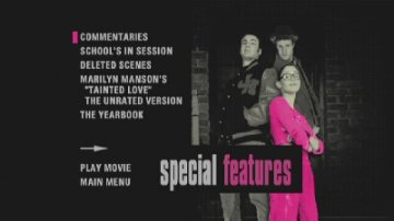 Not Another Teen Movie special features dvd menu