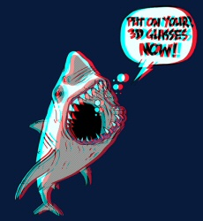 Shark 3D shirt from Threadless