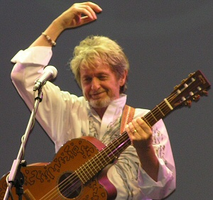 Jon Anderson with guitar