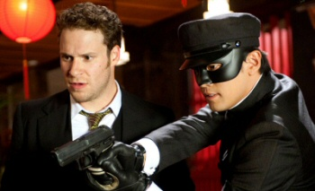 Seth Rogen and Jay Chou in Green Hornet