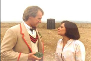 Peter Davison and Nicola Bryant in Doctor Who The Caves of Androzani