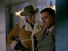 Jim Davis and Larry Hagman in Dallas