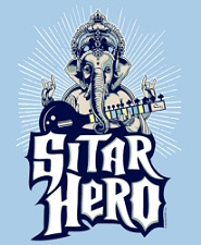 Sitar Hero XL shirt from Tshirt Bordello