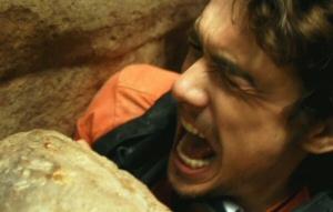 James Franco vs. a rock
