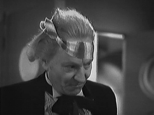 William Hartnell as Doctor Who, with head bandage