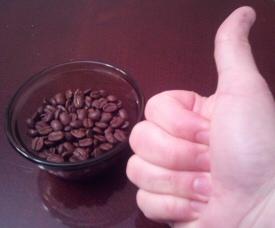 Coffee Thumbs Up