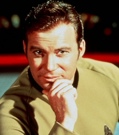 William Shatner as Captain Kirk