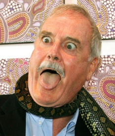 John Cleese and Snake