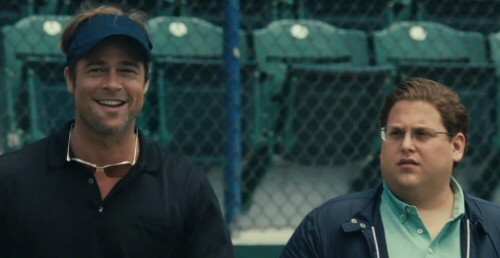 Brad Pitt and Jonah Hill from Moneyball