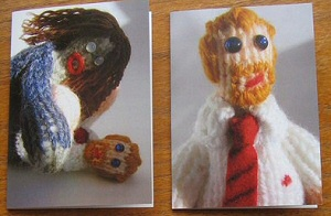 Yarn Zombie Cards from Shaun of the Dead