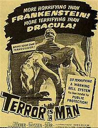 Terror is a Man Poster