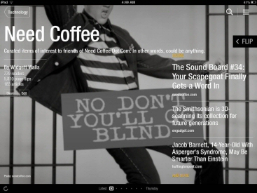 Need Coffee Flipboard iPad