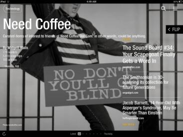 Need Coffee Flipboard iPad