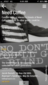 Need Coffee Flipboard iPhone