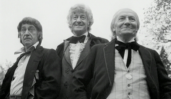 Patrick Troughton, Jon Pertwee and William Hartnell from The Three Doctors