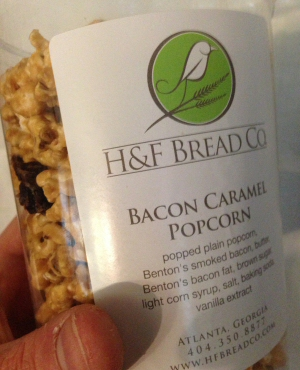 Bacon Caramel Popcorn by H and F Bread Company