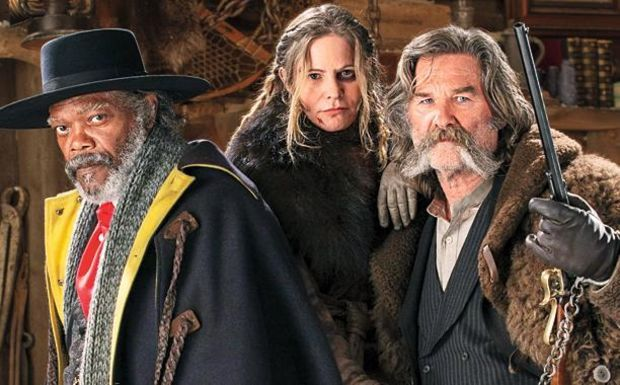 Hateful Eight: Samuel Jackson, Jennifer Jason Leigh, Kurt Russell