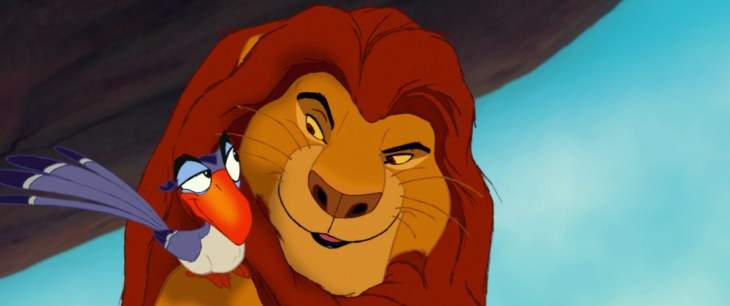 Zazu and Mufasa from The Lion King