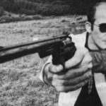 Hunter S. Thompson and gun